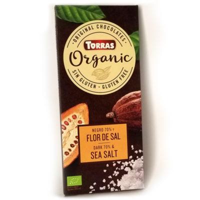 Шоколад черный Torras ORGANIC Dark Chocolate & SEA SALT 70% какао с морской солью 100 г