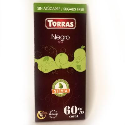 Шоколад черный без глютена и сахара Torras Stevia Dark 100 г