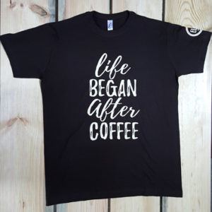Футболка life BEGAN after COFFEE