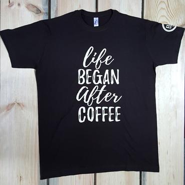 Футболка life BEGAN after COFFEE