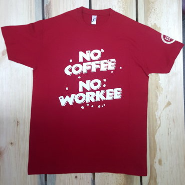 Футболка NO COFFEE NO WORKEE