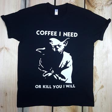 Футболка YODA COFFEE I NEED