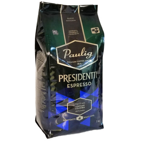 Кофе Paulig Presidentti Espresso в зернах 1 кг