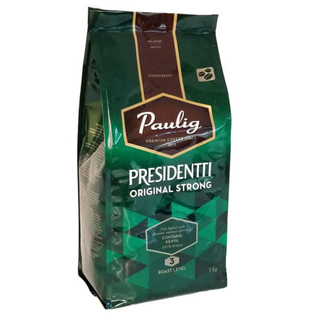 Кофе Paulig Presidentti Original Strong в зернах 1 кг