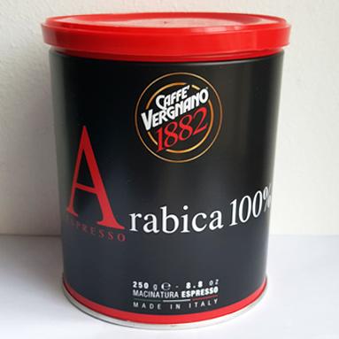 Кофе Vergnano Arabica 100% Espresso 250 г