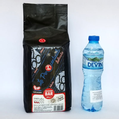 Кофе ORIENTALCAFFE Le Percentuali delicato в зернах 1 кг + вода DEVIN в подарок!