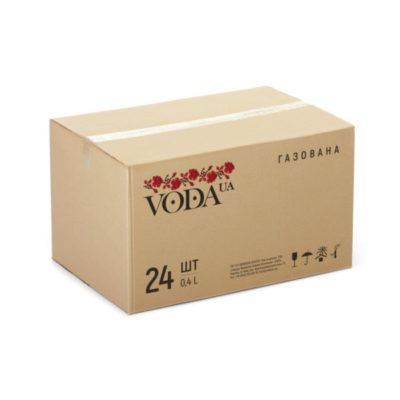 Вода VodaUA родниковая газированная 400 мл