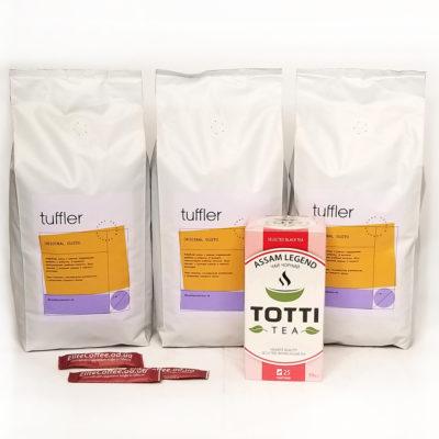 Кофе TUFFLER OG 3 кг со скидкой + САХАР И ЧАЙ в подарок!