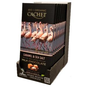 Шоколад CACHET Tanzania молочный с карамелью и морской солью 40% какао 100 г