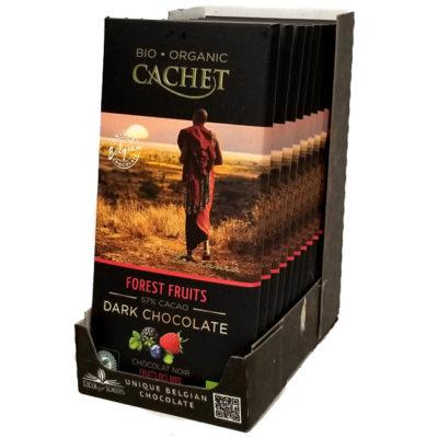 Шоколад CACHET Tanzania черный с лесными ягодами 57% какао 100 г