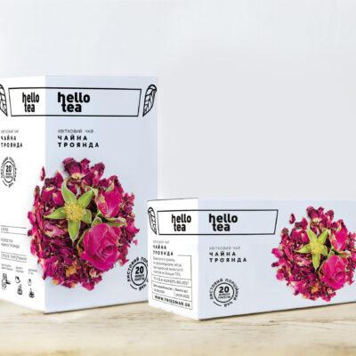 Чай hello tea фруктовый Чайная роза 20 фильтр-пакетов 40 г