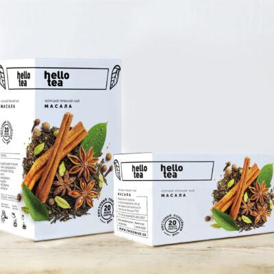 Чай hello tea черный Масала 20 фильтр-пакетов 54 г