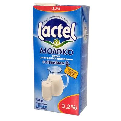 Молоко Lactel ультрапастеризованное с витамином D 3.2% 1000 г