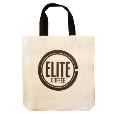 Эко-сумка (шоппер) elitecoffee бежевая с черными ручками