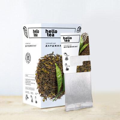 Чай hello tea черный Дарджилинг 20 фильтр-пакетов 50 г