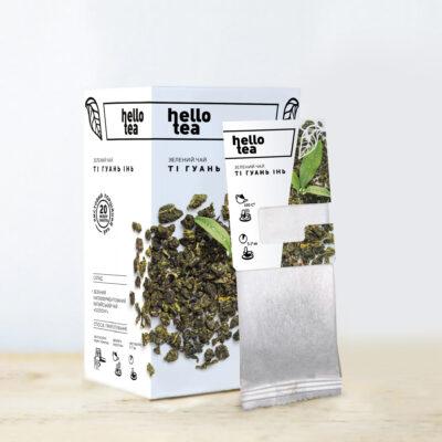 Чай hello tea зеленый Ти Гуань Инь 20 фильтр-пакетов 40 г