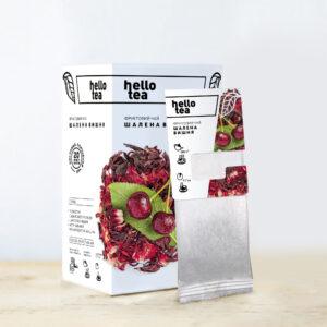 Чай hello tea фруктовый Сумасшедшая Вишня 20 фильтр-пакетов 52 г