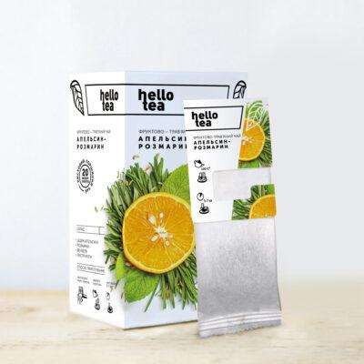 Чай hello tea фруктовый Апельсин-Розмарин 20 фильтр-пакетов 40 г