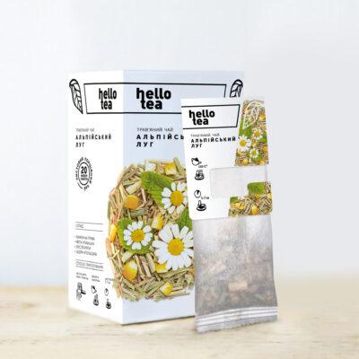Чай hello tea травяной Альпийский луг 20 фильтр-пакетов 40 г