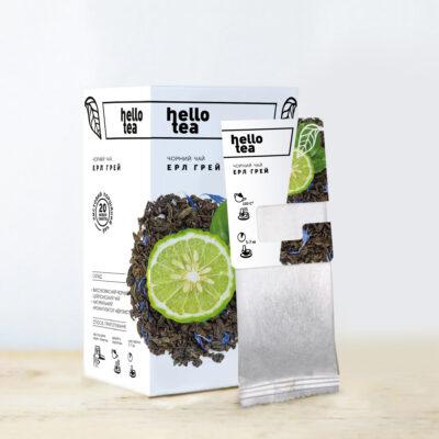 Чай hello tea черный Эрл Грей 20 фильтр-пакетов 40 г