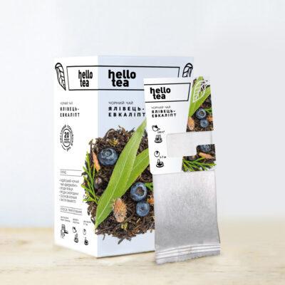 Чай hello tea черный Можжевельник-Эвкалипт 20 фильтр-пакетов 40 г