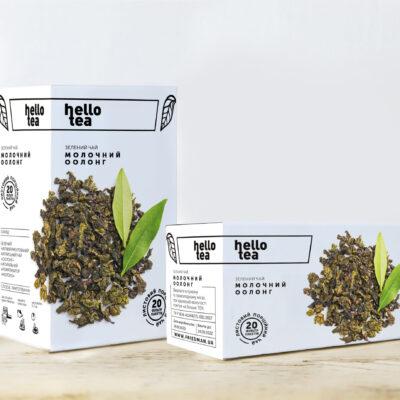 Чай hello tea зеленый Молочный Оолонг 20 фильтр-пакетов 40 г