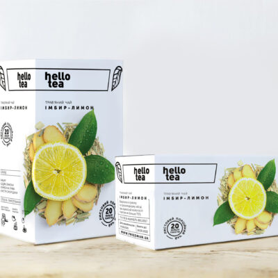 Чай hello tea травяной Имбирь-Лимон 20 фильтр-пакетов 40 г
