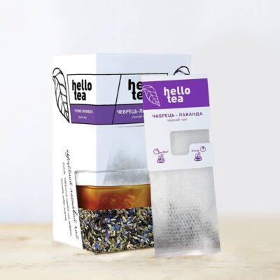 Чай hello tea черный Чабрец-Лаванда фильтр-пакетов 40 г