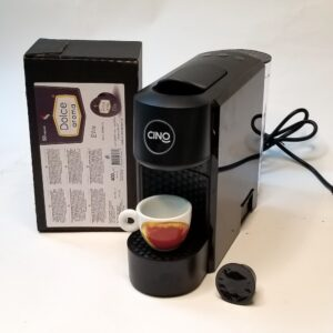 Капсульная кофеварка Сino Julia (система Lavazza Blue) черная + подарок 200 капсул Dolce Aroma