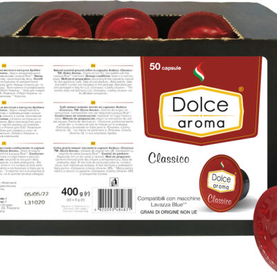Кофе Dolce Aroma Classico в капсулах Lavazza Blue 8 г х 50 шт