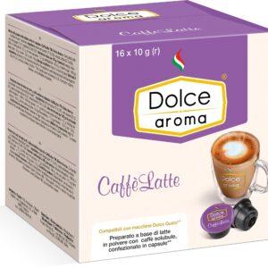 Кофе Dolce Aroma CaffeLatte в капсулах Dolce Gusto 10 г х 16 шт