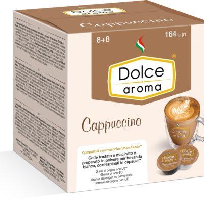 Кофе Dolce Aroma Сappuccino в капсулах Dolce Gusto 13.5 г х 8 шт + 7 г х 8 шт