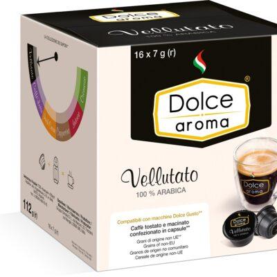 Кофе Dolce Aroma Vellutato в капсулах Dolce Gusto 7 г х 16 шт