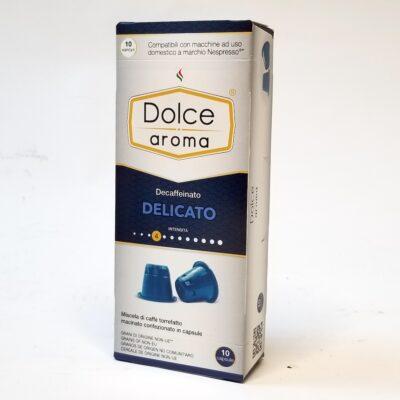 Кофе Dolce Aroma Delicato Decaffeinato в капсулах Nespresso 5 г х 10 шт