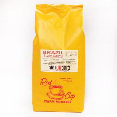 Кофе Red Cup Brazil Super Santos в зернах 1 кг