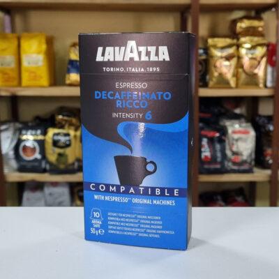 Кофе Lavazza Decaffeinato Ricco в капсулах Nespresso 5 г х 10 шт