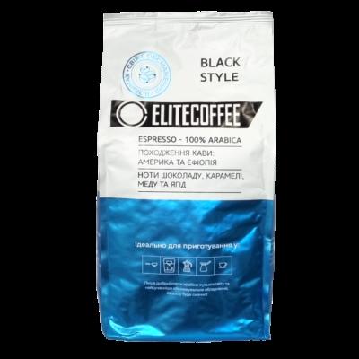Кофе ELITECOFFEE Black в зернах 1 кг